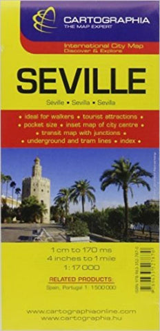 Buy map Seville, Spain by Cartographia