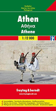 Buy map Athens, Greece by Freytag-Berndt und Artaria