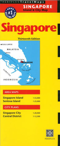 Buy map Singapore Island & City Map by Periplus Editions