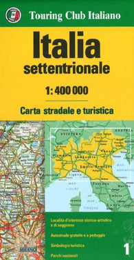 Buy map Italy, Northern by Touring Club Italiano