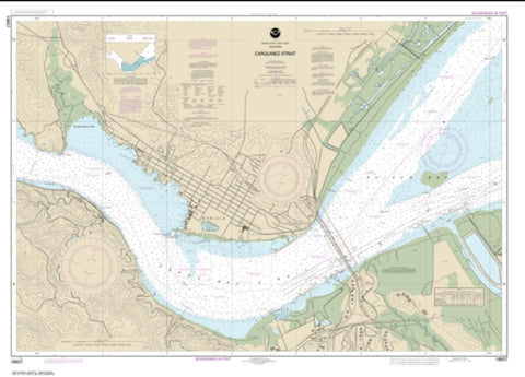 Buy map Carquinez Strait (18657-19) by NOAA