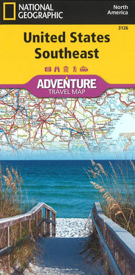 Buy map U.S. Southeast Adventure Map (3126) by National Geographic Maps