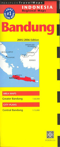Buy map Bandung, Indonesia, regional by Periplus Editions