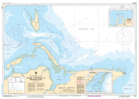 Buy map Entrée a/Entrance to Miramichi River by Canadian Hydrographic Service