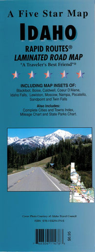 Buy map Idaho Rapid Routes by Five Star Maps, Inc.