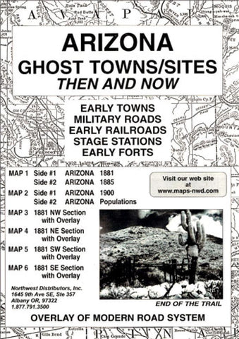 Buy map Arizona, Ghost Towns, 6-Map Set, Then and Now by Northwest Distributors