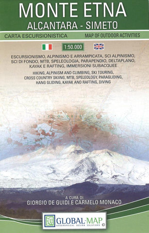 Buy map Mount Etna, Italy by Litografia Artistica Cartografica