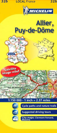 Buy map Allier, Puy-de-Dome (326) by Michelin Maps and Guides