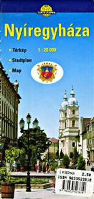 Buy map Nyiregyhaza, Hungary by Cartographia