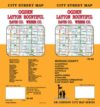 Buy map Ogden, Layton, Bountiful, Davis County and Weber County, Utah by GM Johnson