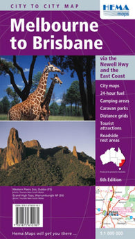 Buy map Melbourne to Brisbane, Australia by Hema Maps