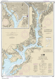Buy map Potomac River Mattawoman Creek to Georgetown; Washington Harbor (12289-50) by NOAA