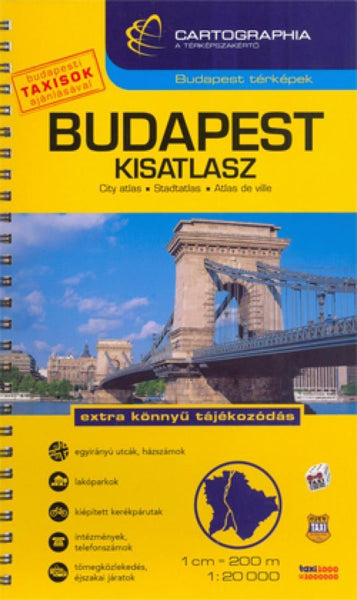 Buy map Budapest, Hungary Atlas by Cartographia