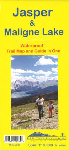 Buy map Jasper National Park and Maligne Lake, Alberta and British Columbia by Gem Trek