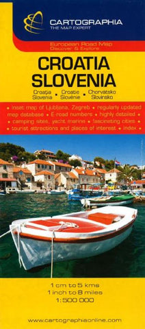 Buy map Croatia and Slovenia by Cartographia