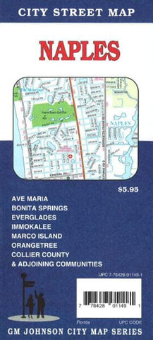 Buy map Naples and Marco Island, Florida by GM Johnson