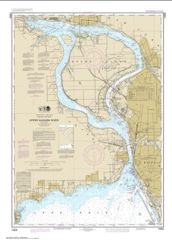 Buy map Niagara Falls to Buffalo (14832-35) by NOAA