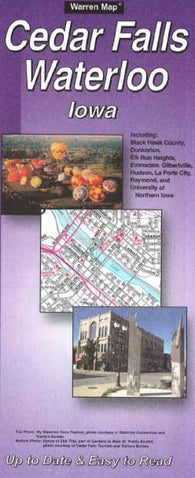 Buy map Cedar Falls and Waterloo, Iowa by The Seeger Map Company Inc.