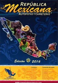 Buy map Mexico Wall Map, Roads and Freeways by Ediciones Independencia