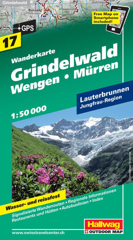 Buy map Grindelwald, Wengen and Murren Hiking Map by Hallwag