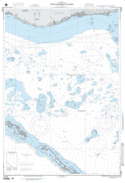 Buy map Punta Colorado To Jucaro (NGA-27184-12) by National Geospatial-Intelligence Agency