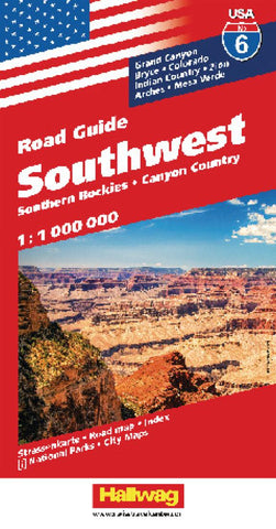 Buy map USA 6: Southwest USA and Southern Rockies by Hallwag