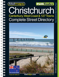 Buy map Christchurch + 127 Towns, New Zealand Atlas by Kiwi Maps