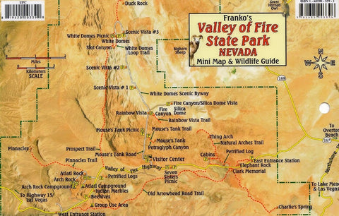 Buy map Valley of Fire State Park Nevada, Mini Map and Wildlife Card by Frankos Maps Ltd.