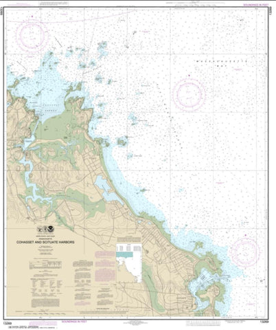 Buy map Cohasset and Scituate Harbors (13269-11) by NOAA