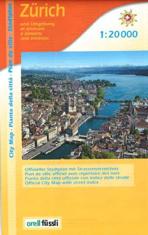 Buy map Zurich city map by Orell Fu?ssli Kartographie, Edition MPA by Orell Fussli