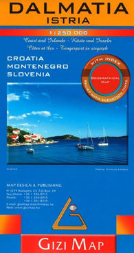 Buy map Dalmatia and Istria, Croatia Road Map by GiziMap
