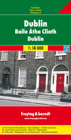 Buy map Dublin, Ireland by Freytag-Berndt und Artaria