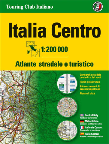 Buy map Italy, Central Road Atlas by Touring Club Italiano