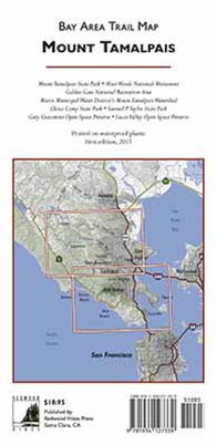 Buy map Mount Tamalpais and Muir Woods, California by Redwood Hikes Press