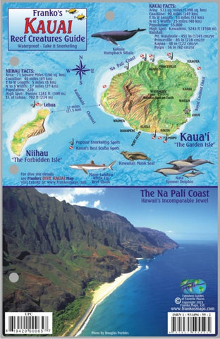 Buy map Kauai Reef Creatures Guide by Frankos Maps Ltd.