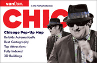 Buy map Chicago, Illinois Pop-Up by VanDam