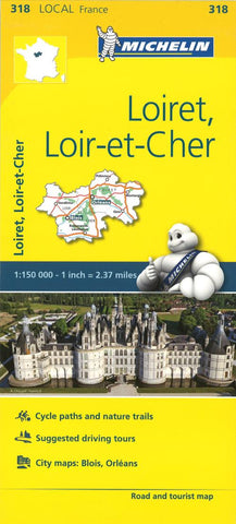 Buy map Michelin: Loiret, Loir Et Cher, France Road and Tourist Map by Michelin Travel Partner