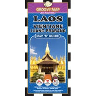 Buy map Laos, Vientiane and Luang Prabang, Map n Guide by Groovy Map Co.