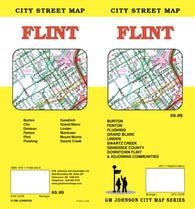 Buy map Flint, Michigan by GM Johnson