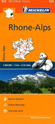 Buy map Rhone-Alps, Michelin Regional Map 523 by Michelin Maps and Guides