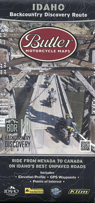 Buy map Idaho Backcountry Discovery Route by Butler Motorcycle Maps