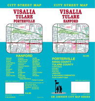 Buy map Visalia, Tulare and Hanford, California by GM Johnson