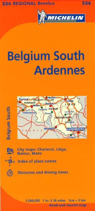 Buy map Belgium, South Ardenne (534) by Michelin Maps and Guides