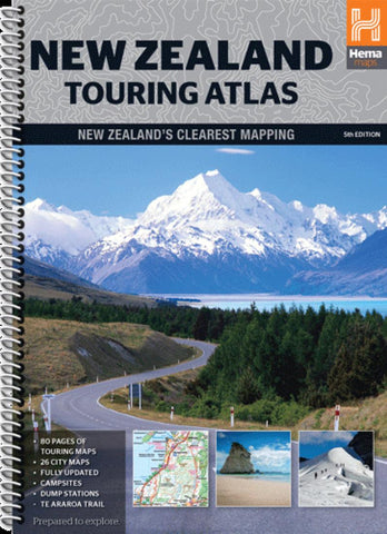 Buy map New Zealand, Touring Atlas, 5th edition by Hema Maps