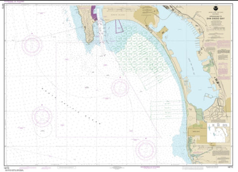 Buy map Approaches to San Diego Bay (18772-48) by NOAA