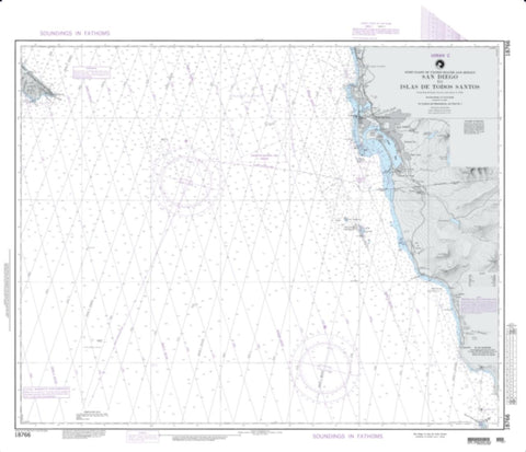 Buy map San Diego To Islas De Todos Santos (Loran-C) (NGA-18766-7) by National Geospatial-Intelligence Agency