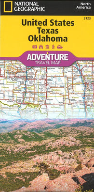 Buy map U.S. Texas, Oklahoma Adventure Map (3123) by National Geographic Maps