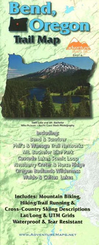 Buy map Bend, Oregon, Trail Map by Adventure Maps