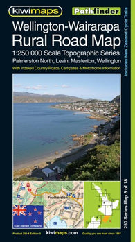 Buy map Wellington-Wairarapa, New Zealand, Rural Roads Topographic Map by Kiwi Maps