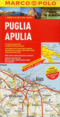 Buy map Puglia/Apulia, Italy by Marco Polo Travel Publishing Ltd